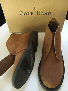 $70 Cole Haan Oxfords Boys Lil Shane Brown Faux Suede Boys Boots Lace Sz 11 NEW