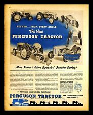 1949 Ferguson Tractor Vintage PRINT AD Farm Machinery Agriculture 1940s