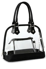 Clear PVC Handbag Women Bag Satchel Top Handle Purse Beach Wallet Travel Durable