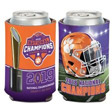 Clemson Tigers 2019 Wincraft Ncaa National Champions 12oz Can Coolie Free Ship
