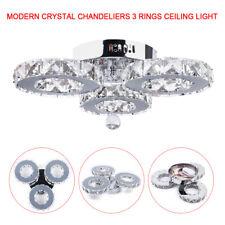 Modern Crystal Chandelier LED 2-Colors Ceiling Lamp K9 Lighting Fixture 36W 230V