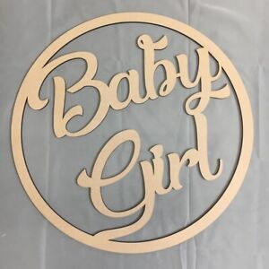 30cm Baby Girl Hoop Ring MDF Wall Sign Celebration Decoration Blank Ring Shower