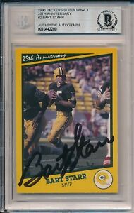 Bart Starr Packers Signed Auto 1990 SB 1 Super Bowl I Anniversary Card #2 ~ BAS