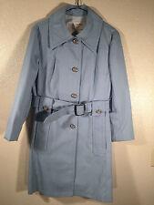 London Fog Ladies sz 10 Robin Egg Blue Flight Attendant 60's 70' USA Coat Jacket