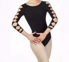 Neu Capezio Ballett Trikot Leotard Gym Ballettanzug Body metallic grau L 40
