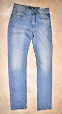 New Replay Premium Women's Jacksy Skinny Slim Jeans Light Blue Denim W27 UK8