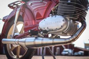Zundapp 125cc Exhaust Stainless KS GS (now with unmountable silencer and clamp)
