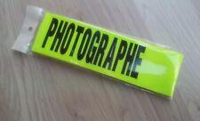BRASSARD TISSU JAUNE PHOTOGRAPHE  ARMBAND FERMETURE SCRATCH