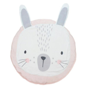 Baby/Infant play Mat round - Pink Bunny