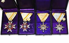 Set of 4 Japanese Order of the Sacred Treasure 5,6,7,8th Class Medal Badge w/Box