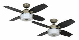 Modern ceiling fan light with wall control 107 cm Hunter CENTRAL PARK Pewter
