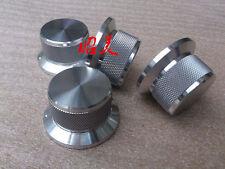 1PCS D44*H25 Knurled full Aluminum Volume knob amplifier knob silver color