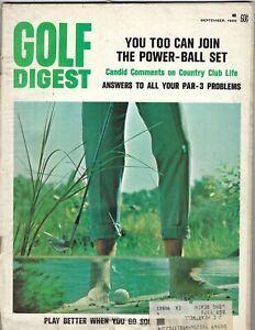 1968 SEPTEMBER Golf Digest magazine Country Club Life  GOOD