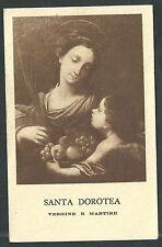 estampa antigua de Santa Dorotea santino holy card image pieuse