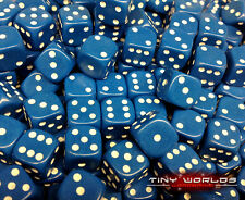 50 Six Sided Dice - 12mm Blue - Wargaming D6 Warhammer High Elves Space Marines