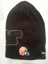 CLEVELAND BROWNS BeanIe hat toboggan .. NFL LICENSED TEAM APPAREL REEBOK