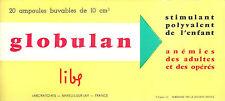 BUVARD Ampoules buvables GLOBULAN = Laboratoires à Mareuil-sur-Lay + NEUF
