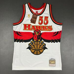 100% Authentic Dikembe Mutombo Mitchell Ness 96 97 Hawks Swingman Jersey Size 44