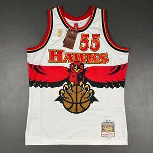 100% Authentic Dikembe Mutombo Mitchell Ness 96 97 Hawks Swingman Jersey Size 44