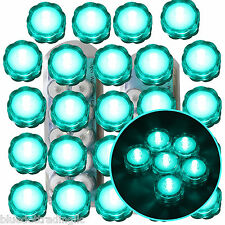 24 Pack Turquoise Submersible Underwater Battery Led Tea Light Wedding Decor