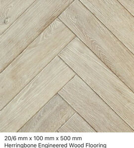 Herringbone Eton Oak Rustic 20/6 x 100 x 500mm  engineered wood flooring