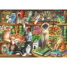 GIBSONS JIGSAW PUZZLE PUSS IN BOOTS JUDITH YATES 1000 PCS #G6147 CATS