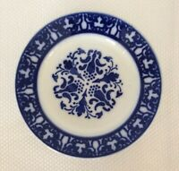 """Antique LUNEVILLE France Opaque Flow Blue Plate 8 3/4"""""""