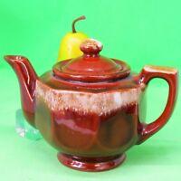 Brown Drip Teapot Octagon shape, No maker's mark, No Date GUC