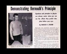 Bernoulli's Principle HowTo build PLANS Science Fair