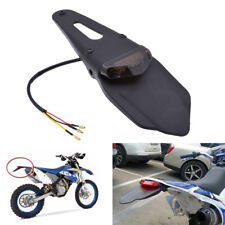 Universal Motorcycle Enduro Trial Dirt Bike Fender LED Stop Rear Tail Light Lamp