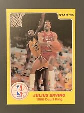 1986 Star Court Kings #13 Julius Erving *Pack Fresh* Philadelphia 76ers HOF
