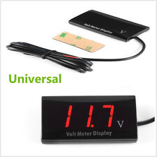 12V Ultra Thin Digital Red LED Display Voltage Meter Voltmeter Panel For Car SUV
