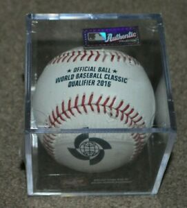 NEW 2016 Rawlings Official World Baseball Classic Qualifier Games Ball w/ Cube