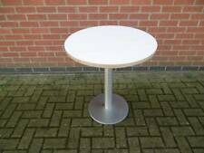 Round Restaurant Dining Table with Stainless Steel Base