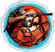 "Trap Skeet Shooting Shot Gunner Shotgun Gun Car Bumper Vinyl Sticker Decal 4.6""."