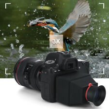 Visor LCD 3.2 pulgadas 3X Lupa Lupa ocular para cámara universal de 3.2 pulgadas