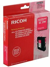 Ricoh GENUINE GC 21M Magenta  Ink/Liquid Gel Cartridge Aficio GX7000 GC21M *NEW*