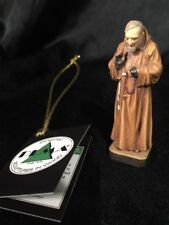 "St Saint Padre Pio Hand Carved Painted Figurine 2.5"" in Box 🎁"