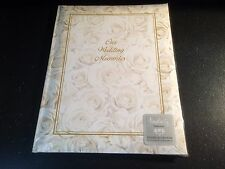 New ~ Amscan Inc Simplicity White Roses Wedding Record Book ~ Free Shipping