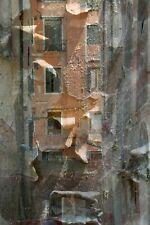 """MONTAGE NUMÉRIQUE, paysage, PHOTO ORIGINALE de HZEN """"PELURES DE FAÇADES"""" 40x60cm"""