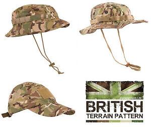 US & British Army Military Jungle Wide Boonie Sun Bush Hat Combat BTP Camo New