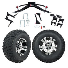 """Gtw 6"""" Club Car Precedent Golf Cart Lift Kit With Mud Tires & 12"""" Wheels 2004-Up"""