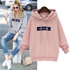 Autumn Women Long sleeve Hoodie Sweatshirt Jumper Sweater Pullover Tops Coat