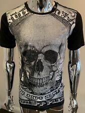 """Medium SS Philipp Plein /""""le serpent/"""" Noir T-Shirt Authentique BNWT"""