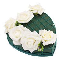 1-8PCS Heart Shape Flower Wet Foam Fresh Floral Flower Wedding Car Display Decor