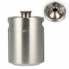 2L 64OZ 304Stainless Mini Keg Growler Thread Mouth Keg Canteen Craft Beer Making
