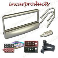 Ford Silver Single DIN Radio Stereo Facia Fascia Adaptor Plate Panel Fitting Kit
