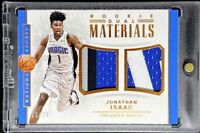 Jonathan Isaac 2017-18 Panini National Treasures Rookie Dual Materials RC 11/25