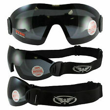 2 Sky Dive Goggles Clear Smoke Skydiving New Shatterproof Polycarbonate Lens