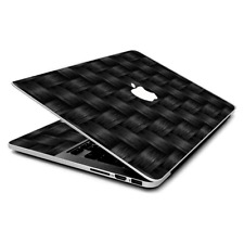 Skin Wrap for MacBook Pro 15 inch Retina  Black Grey Carbon Fiber Weave